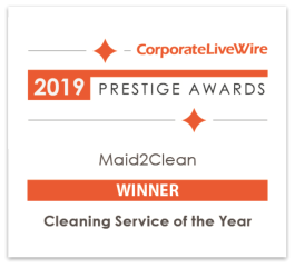 2019 Prestige Awards - Maid2Clean - Winner - Cleaning Service of The Year